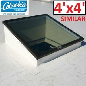 NEW* COLUMBIA SKYLIGHT 4' x 4' GL VCM 5252 NEAT 224652003 FIXED CURB MOUNT NEAT GLASS