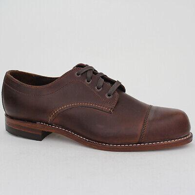 Wolverine Zapatos 1000 Mile Watson Talla 46 Boots Brown Piel Braun Cuero...