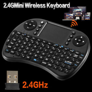 Mini Gaming Keyboard 2.4GHz USB Wireless TouchPad mouse for PC T