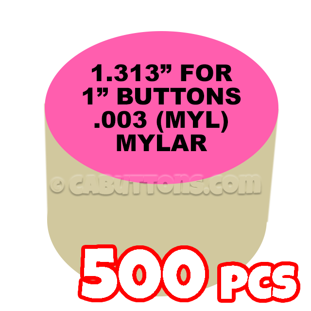 "1-1//4/"" Tecre Mylars Clear Plastic Cover for Button Maker Machine Press 1000 pcs"