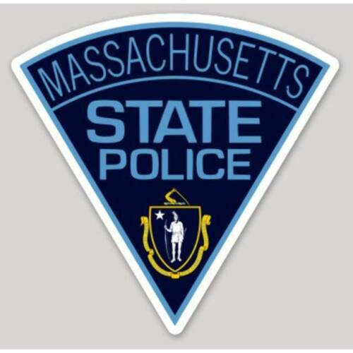 4 Inch Non-Reflective Massachusetts State Police Logo Sticker Decal