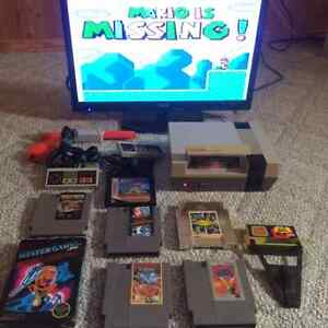 NES Nintendo Console with 8 games (Game Genie optional)