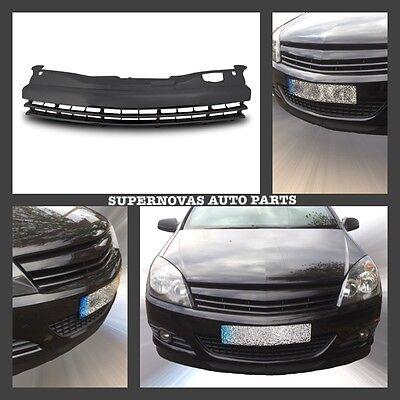 Vauxhall Opel Astra H Mk5 2004>2009 SRi SXi 3 DR Black Debadged  Badgeless Grill