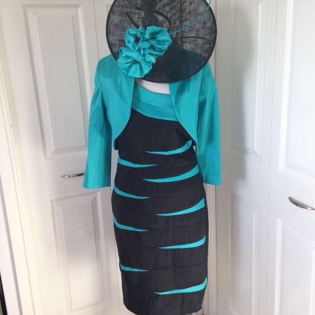 5628e22273d Designer Frank Lyman Mother of the Bride suit outfit dress   bolero jacket  16-18 stunning