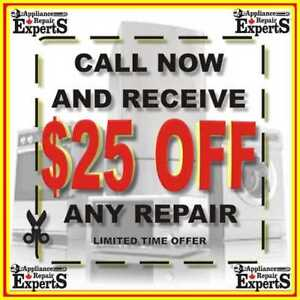 〠 APPLIANCE REPAIR EXPERTS☚SameDayService, $25OFF ☎ 647-243-6117