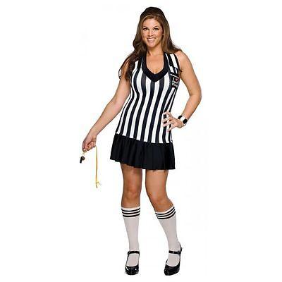 FOUL PLAY REFEREE HALLOWEEN COSTUME WOMEN'S PLUS SIZE (FITS DRESS SIZE 14-16)