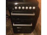 £97.99 Hotpoint black ceramic electric cooker+50cm+3 months warranty for £97.99