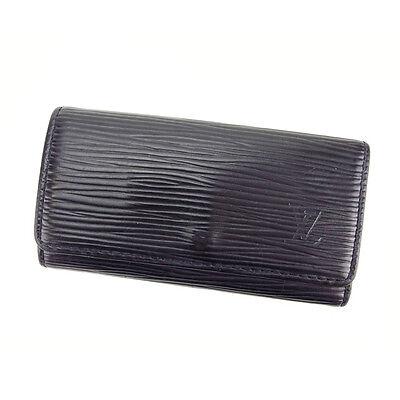 Auth Louis Vuitton key case Epi / unisexused N280