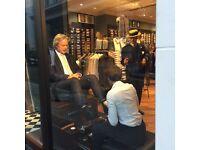 In-store luxury shoeshiner, full training provided, £8 p/h plus tips