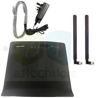 used HUAWEI B593 CPE S-22 FACTORY UNLOCKED 4G LTE Router + 2 x EXTERNAL ANTENNA