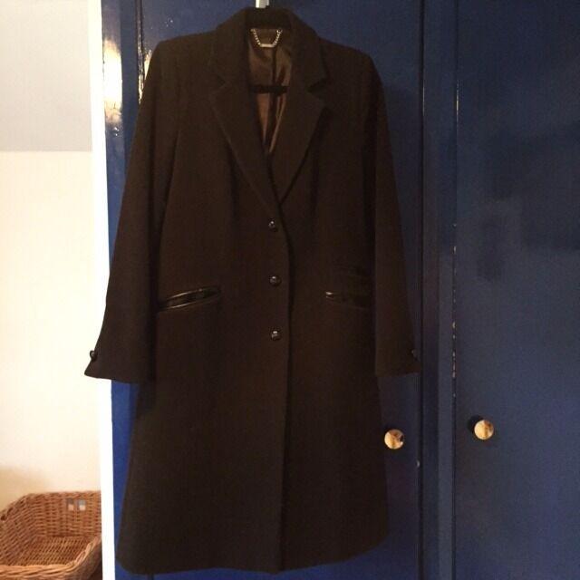 Laura Ashley warm woollen ladies' coat, size 12