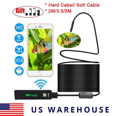 Wifi Endoscope 1200p Semi-rigid Wireless Borescope Inspection Snake Camera