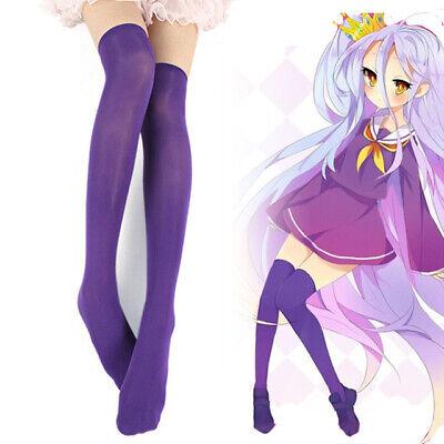 No Game No Life Shiro Purple Stockings Socks Cosplay Costume Cute Girl - Shiro Cosplay Kostüm