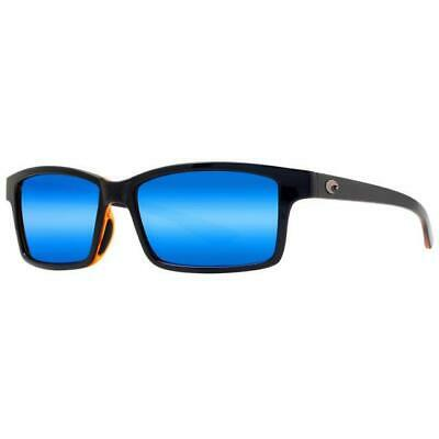 6a4a0e74377c New Costa Del Mar Tern Polarized Sunglasses 580P Black-Amber/Blue Mirror