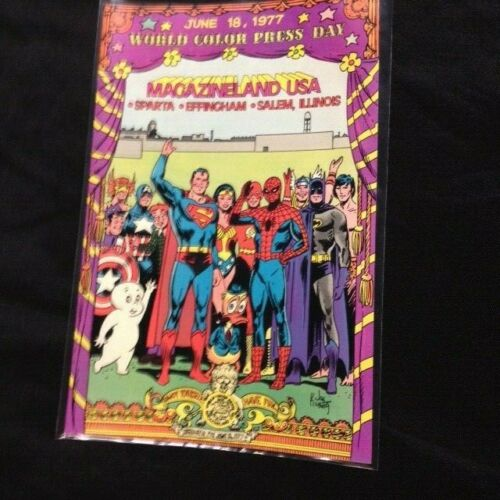 1977 world color  press day comic book rare DC Marvel Harvey Archie promotional