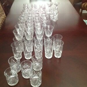 VINTAGE PINWHEEL CRYSTAL GLASSES