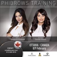 PHIBROWS MICROBLADING TRAINING IN OTTAWA FEB 8/9,2019