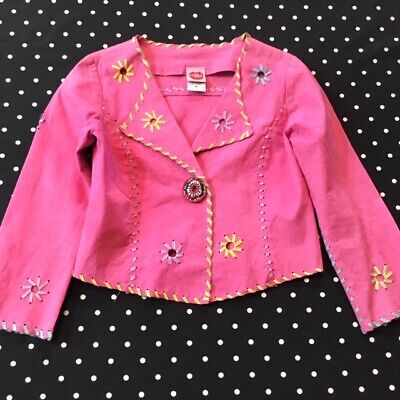 Lipstik Girls faux suede leather hot pink jacket coat 6 years EUC Girls Faux Suede Jacket