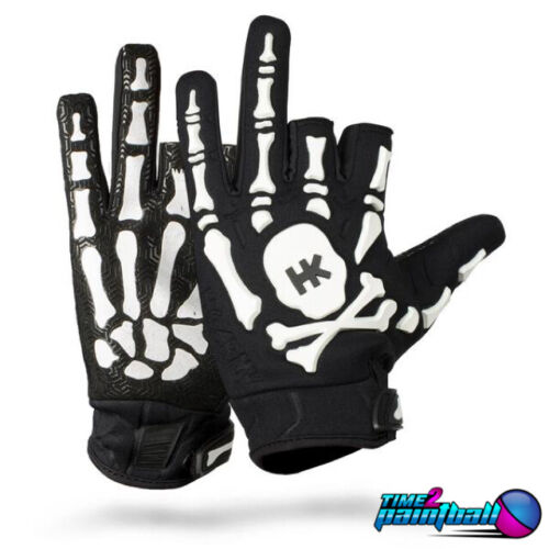 HK Army Paintball Bones Gloves - White - Large **FREE SHIPPING**