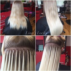 LINA'S LOCKS HAIR EXTENSIONS Fusion | Tape | Microlinks | Nano London Ontario image 2
