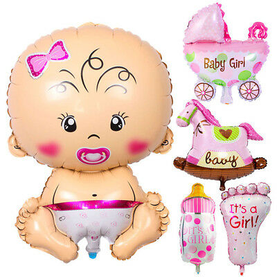 rosa Folienballons Luftballons Ballon Babyparty Dekoration (Mädchen Luftballons)