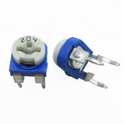 20pcs 200k 204 Adjustable Resistor Trimmer Potentiometer Rm650 - Us Seller