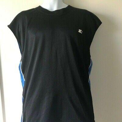Black Reversible Sleeveless Shirt - Starter Reversible Pullover Sleeveless Shirt Black/Blue Men's Size XL (?)