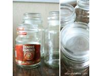 WANTED PLEASE LARGE DOUWE EGBERTS GLASS COFFEE JARS OR LARGE YANKEE CANDLE WITH LIDS TENBY AREA