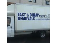 MAN WITH VAN ***TWO MAN TEAM PRICE FROM £15 *** VERY CHEAP HOUSE MOVE QUOTATION ***