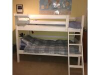 OFFERED FOR FREE: BUNK-BED/2 SINGLE BEDS