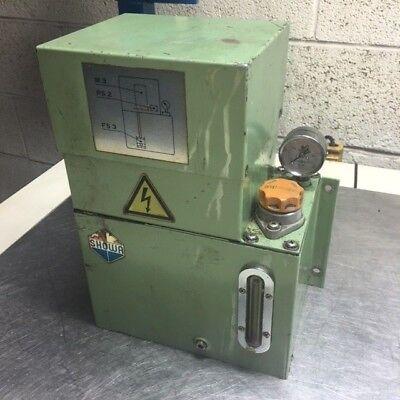 Showa Lubrication System, 220 V, MLA-03, Dis Vol. 0.30 l/min, w/ Gage, Used