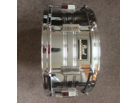 Pearl Export 14x6.5 snare drum with mapex case