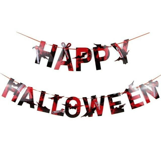 Halloween Bunting banners hanging(Colored letters)