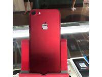 IPHONE 7 RED / VISIT MY SHOP./ UNLOCKED / 128 GB / SHOP WARRANTY + RCEIPT