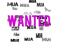 Self employed make up artist required