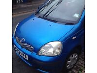 Perfect First Car- 2003 Blue Toyota Yaris VVT-iT2 Hatchback 998CC with Low Mileage
