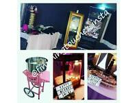 Magic mirror, chocolate fountain, Popcorn machine,Candy floss special offer!