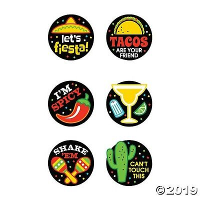 Cinco De Mayo Party Favors (72 Fun Temporary Tattoos Fiesta Cinco De Mayo Mexican Party FAVORS taco)