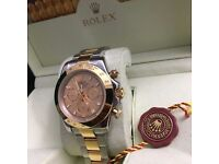 TwoTone Rolex Daytona with Gold face comes Rolex Bagged And Boxed With Paperwork
