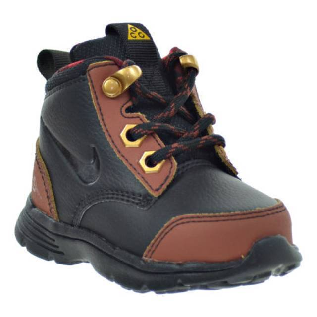 New Nike Baby DF Jack ACG Toddlers Boots (535923-001)  Black/Henna-Canyon Gold