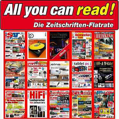 All You Can Read 12 Monats Flatrate Hifi Test+Heimkino+Car&Hifi+Digital Home+LP
