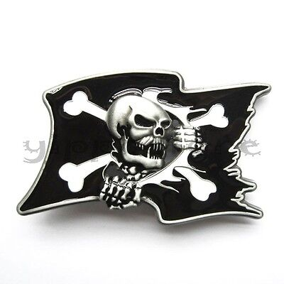 Pirate Skull Flag Metal Fashion Belt Buckle