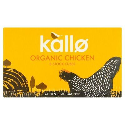 Kallo Organic Chicken Stock Cubes   8 X 11G  0 19Lbs