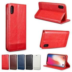 iPHONE X BOTH-SIDE MAGMATIC LEATHER  CASES  WITH CADR SLOTS AND MANY OPTIONS !!!
