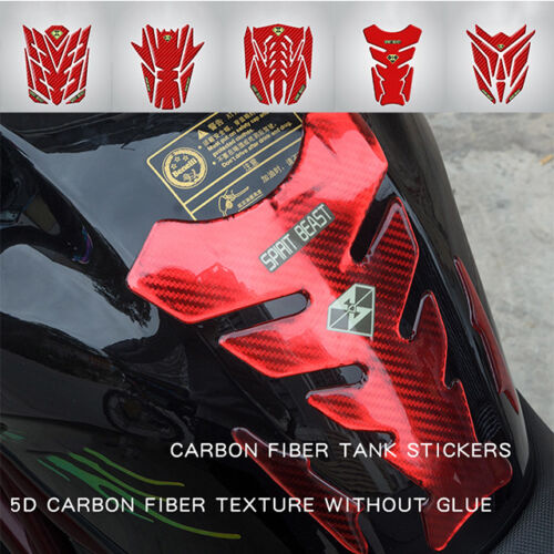 Deluxe Gas Tank Protector 3D Gel Pad Guard Sportbike Motorcycle Carbon Fiber