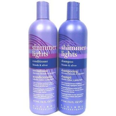 Clairol Silver Shampoo (Clairol Professional Shimmer Lights Hair Shampoo Conditioner For Blondes Silver)