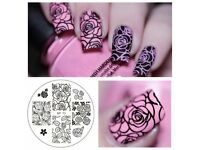 Born Pretty Nail Art Stamping Plates Decorations Nails (BP073- Roses)