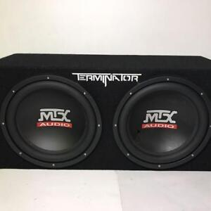 MTX Terminator Duel 12's Sub Woofers with Amp