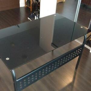 Black Tempered Glass Desk- Structube