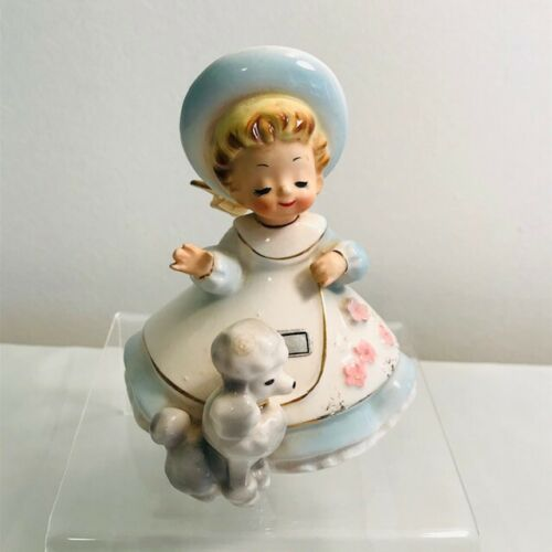 Vintage Josef Originals Little Pets Girl With Poodle Fifi Figurine Japan